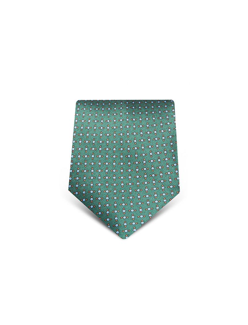 Cravatta con micromotivo in seta