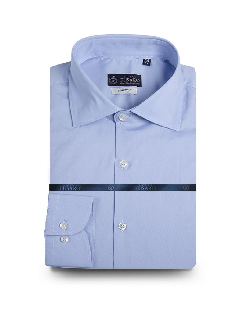 Camicia classica di cotone stretch